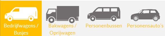 de vervoersmiddelen die ze aanbieden in categorieën